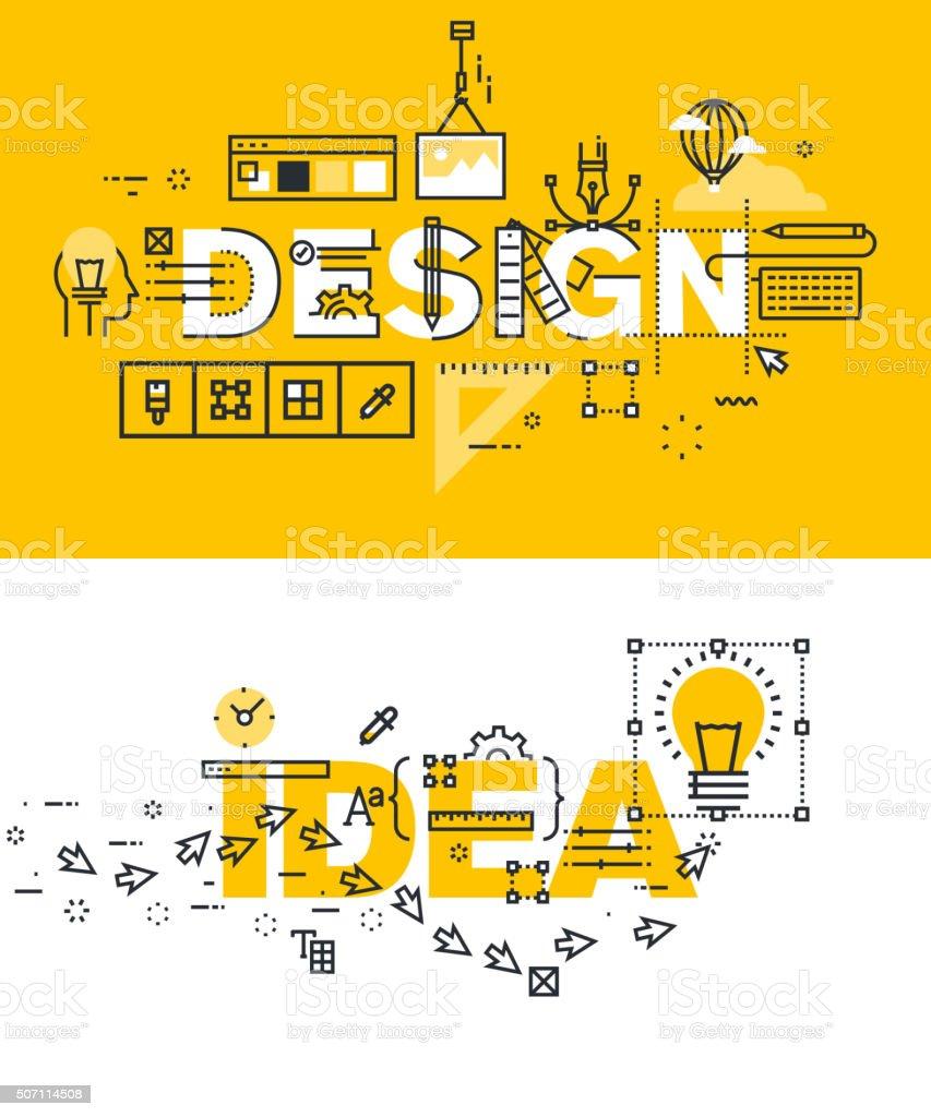 Vector de ilustración conjunto de conceptos de diseño y idea de palabras illustracion libre de derechos libre de derechos