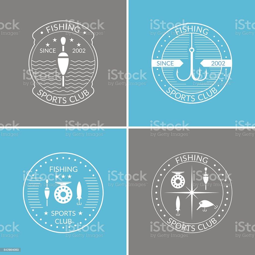 Set of vector illustrations for fishing vector art illustration
