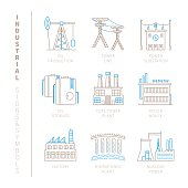 Set of vector industrial icons and concepts