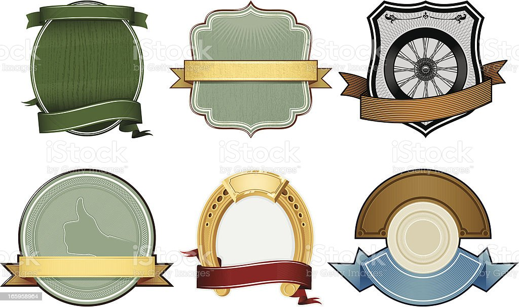 Set Of Vector Labels royalty-free stock vector art