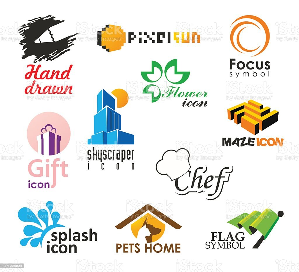 Set of vector logo and icons template royalty-free stock vector art