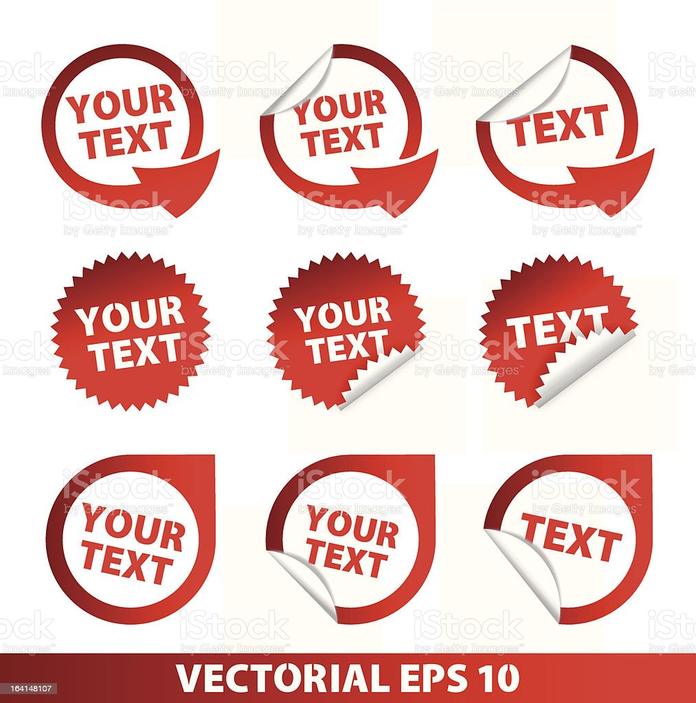 Set of vector stickers and adhesive royalty-free stock vector art
