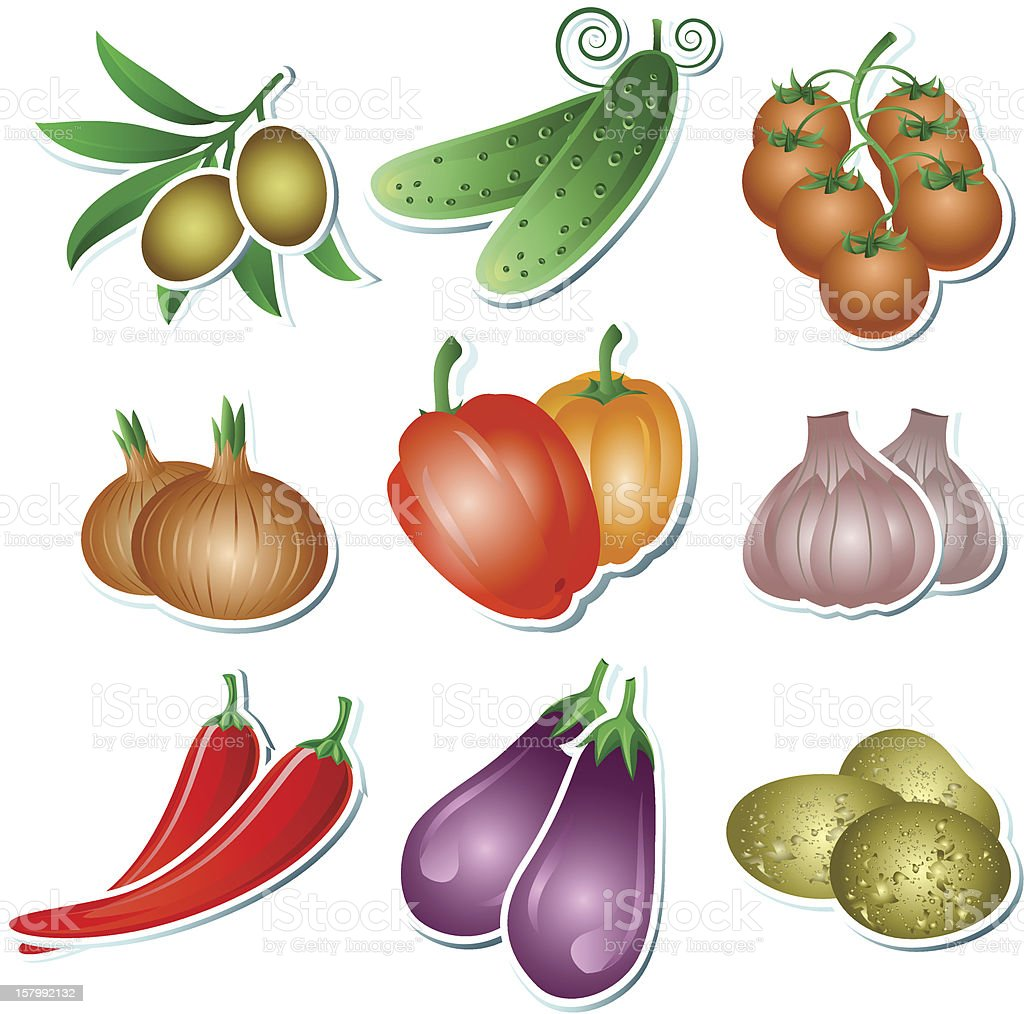 Set of vector vegetables royalty-free stock vector art