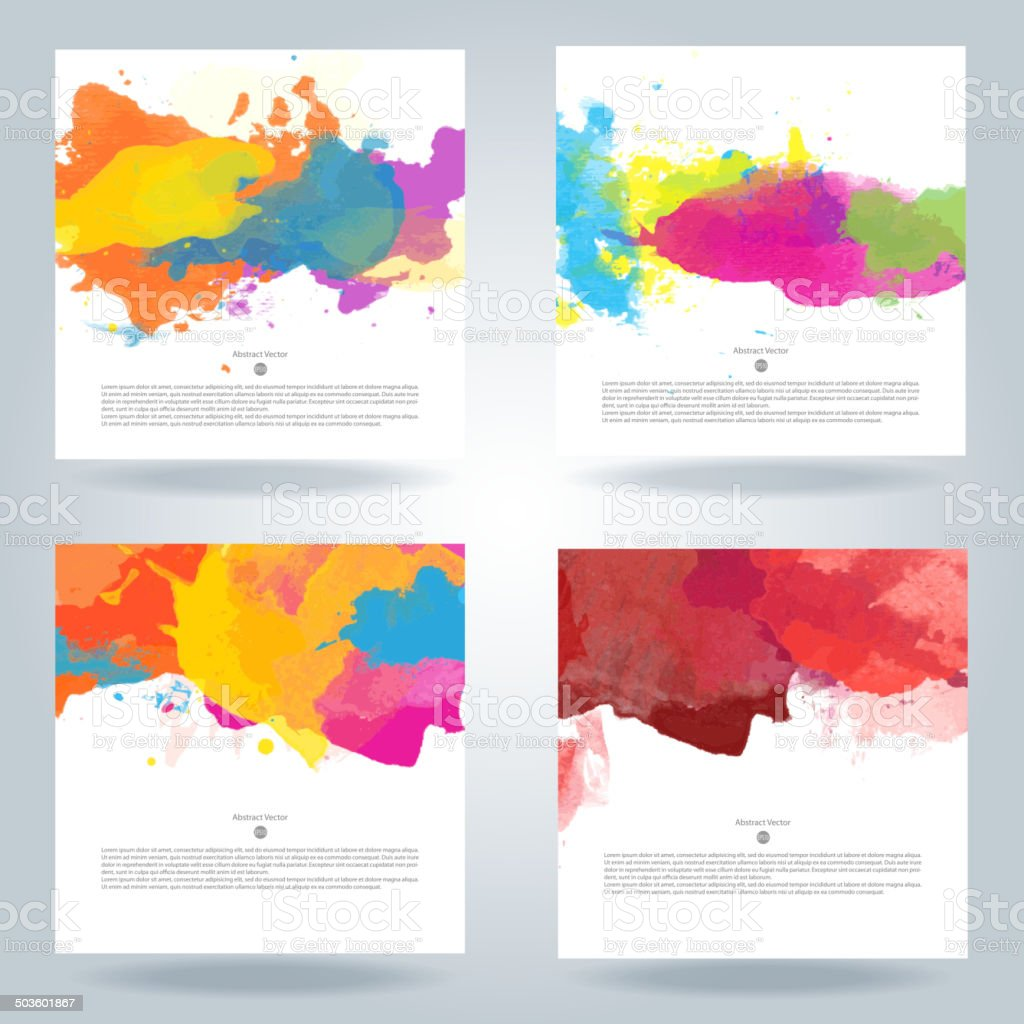 Set of vector watercolor template royalty-free stock vector art