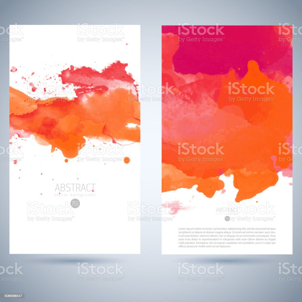 Set of vector watercolor template vector art illustration