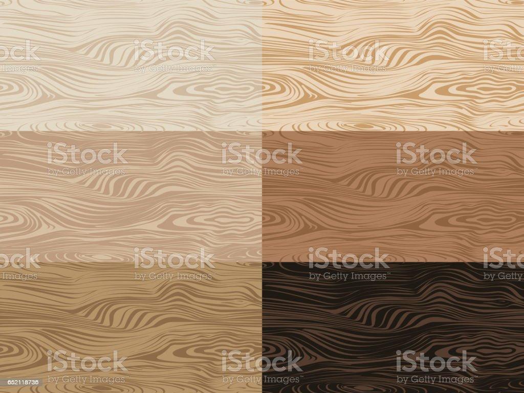 Set of vector wooden textures. vector art illustration