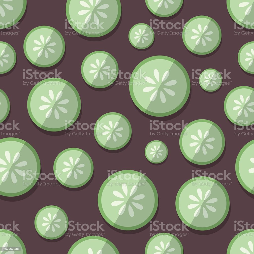 Set of Vegetables Patterns in a Flat Style - Cucumber vector art illustration