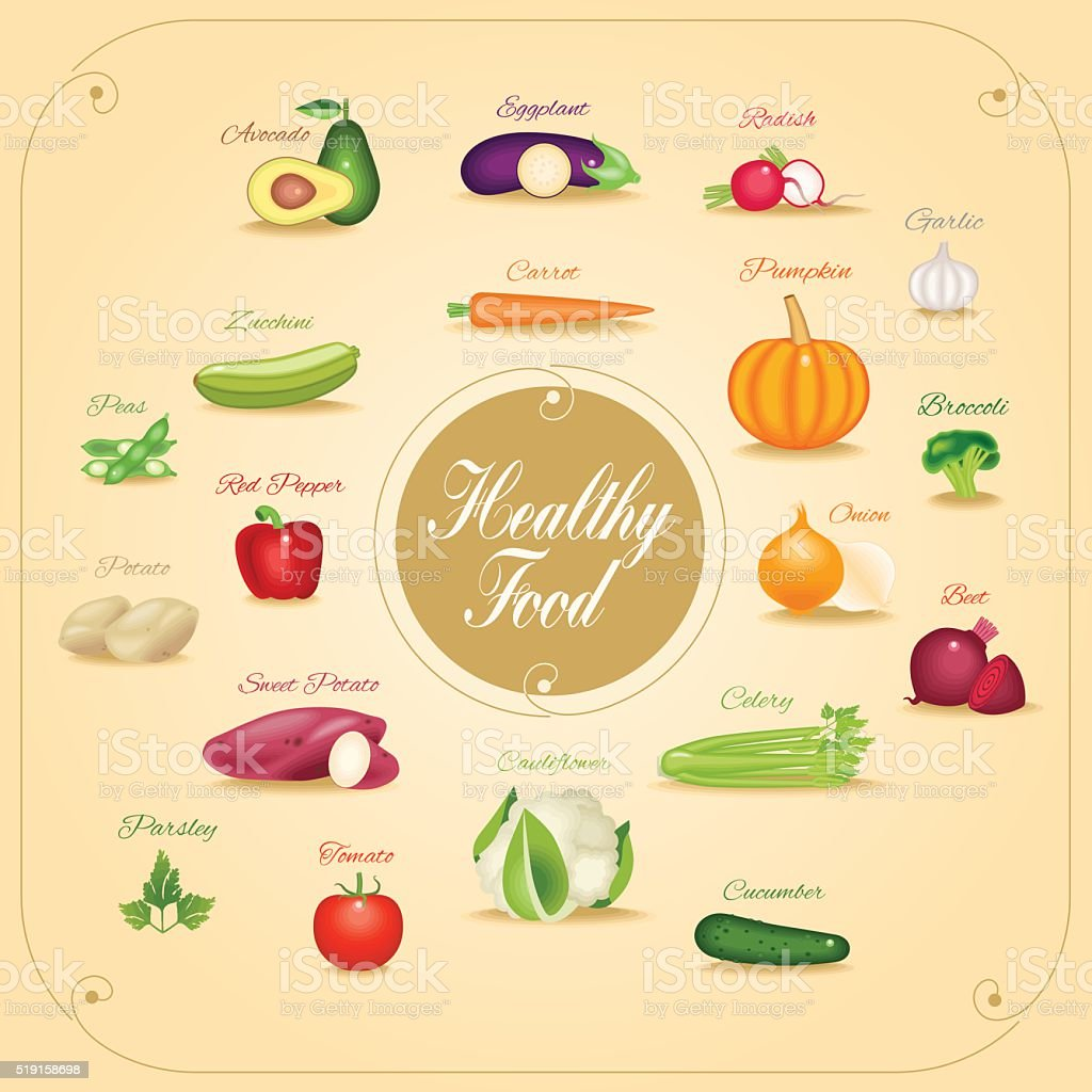 Set of vegetables vector illustration vector art illustration