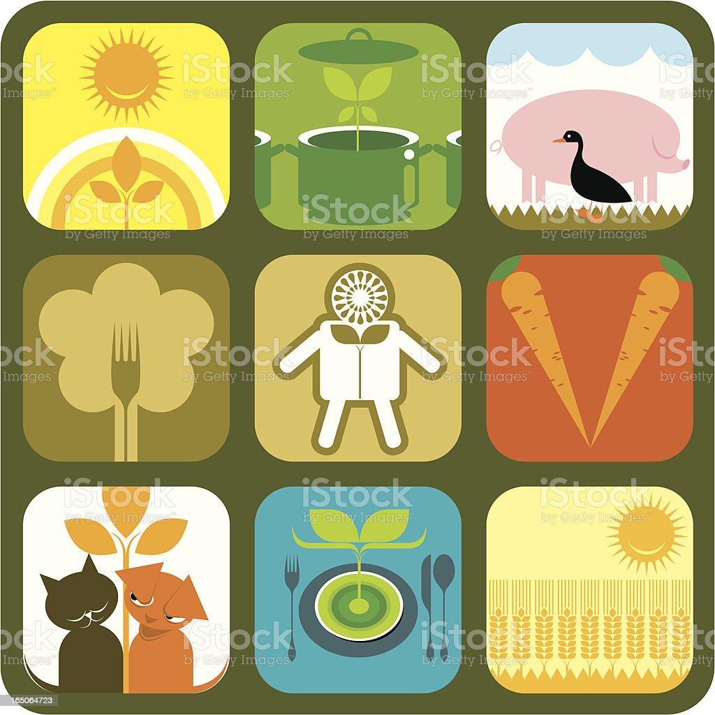 Set of veggie icons. royalty-free stock vector art