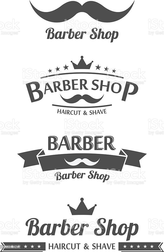 Set of vintage barber shop logo graphics.vector vector art illustration