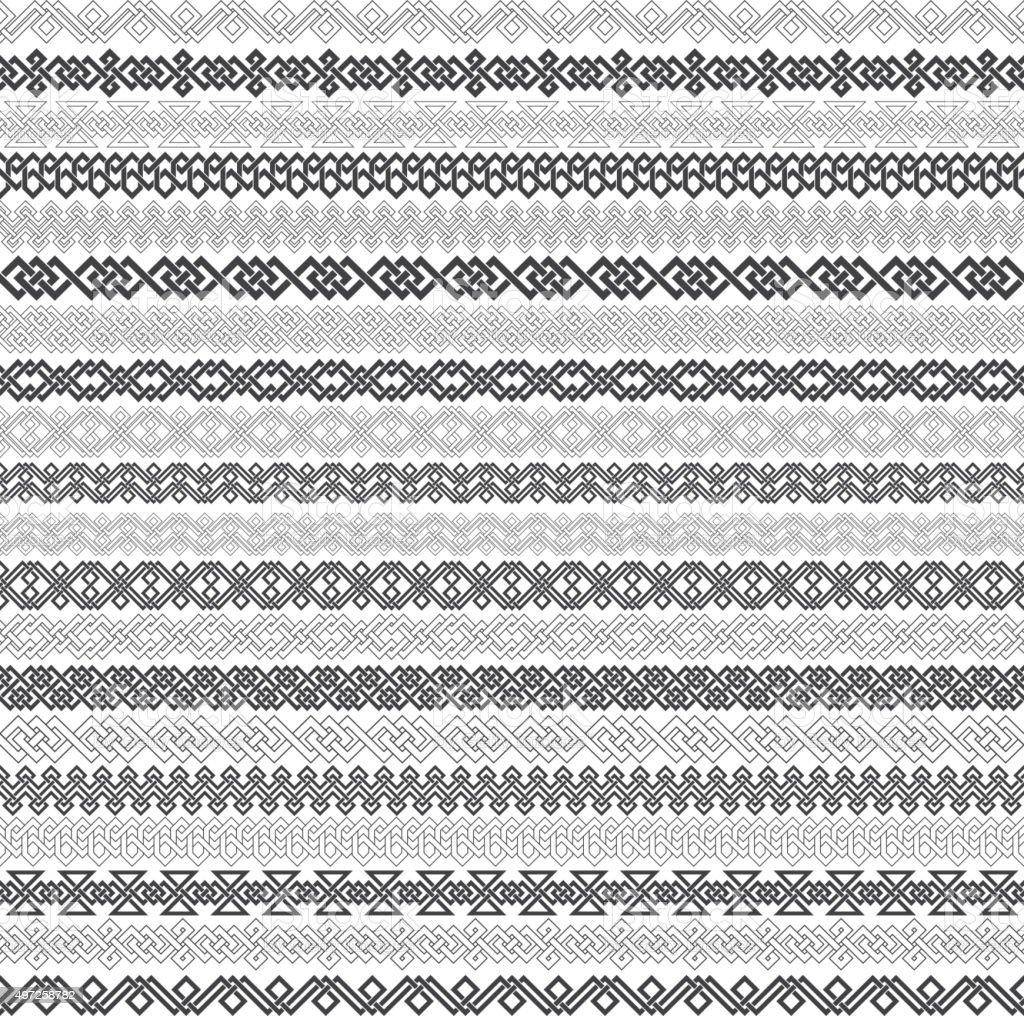 Set of vintage borders for design vector art illustration