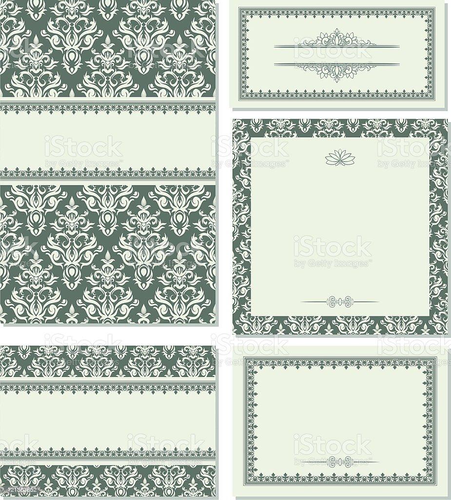 Set of vintage frames royalty-free stock vector art