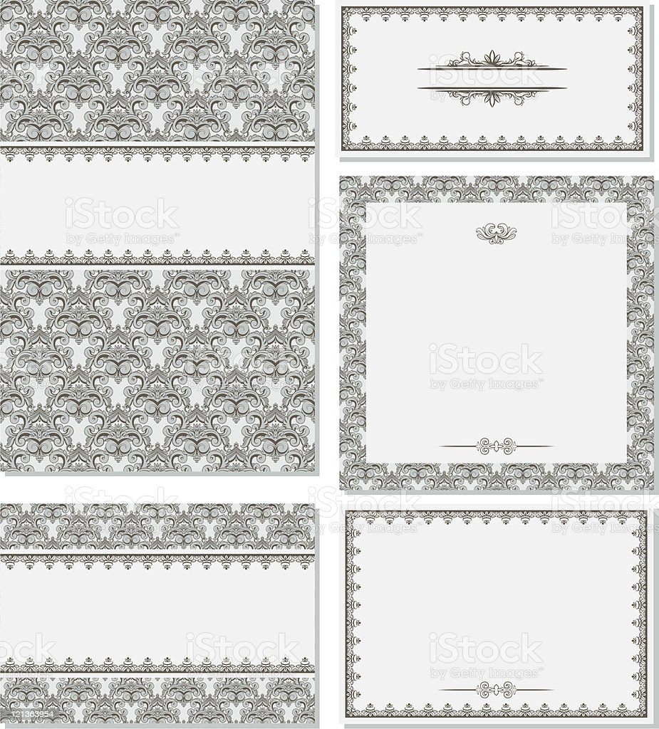 Set of vintage frames royalty-free stock vector art