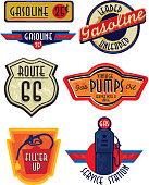 Set of Vintage Gas Bar signs