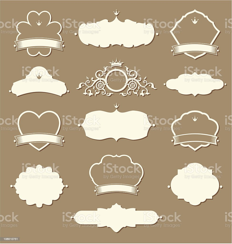 Set of vintage labelling elements royalty-free stock vector art
