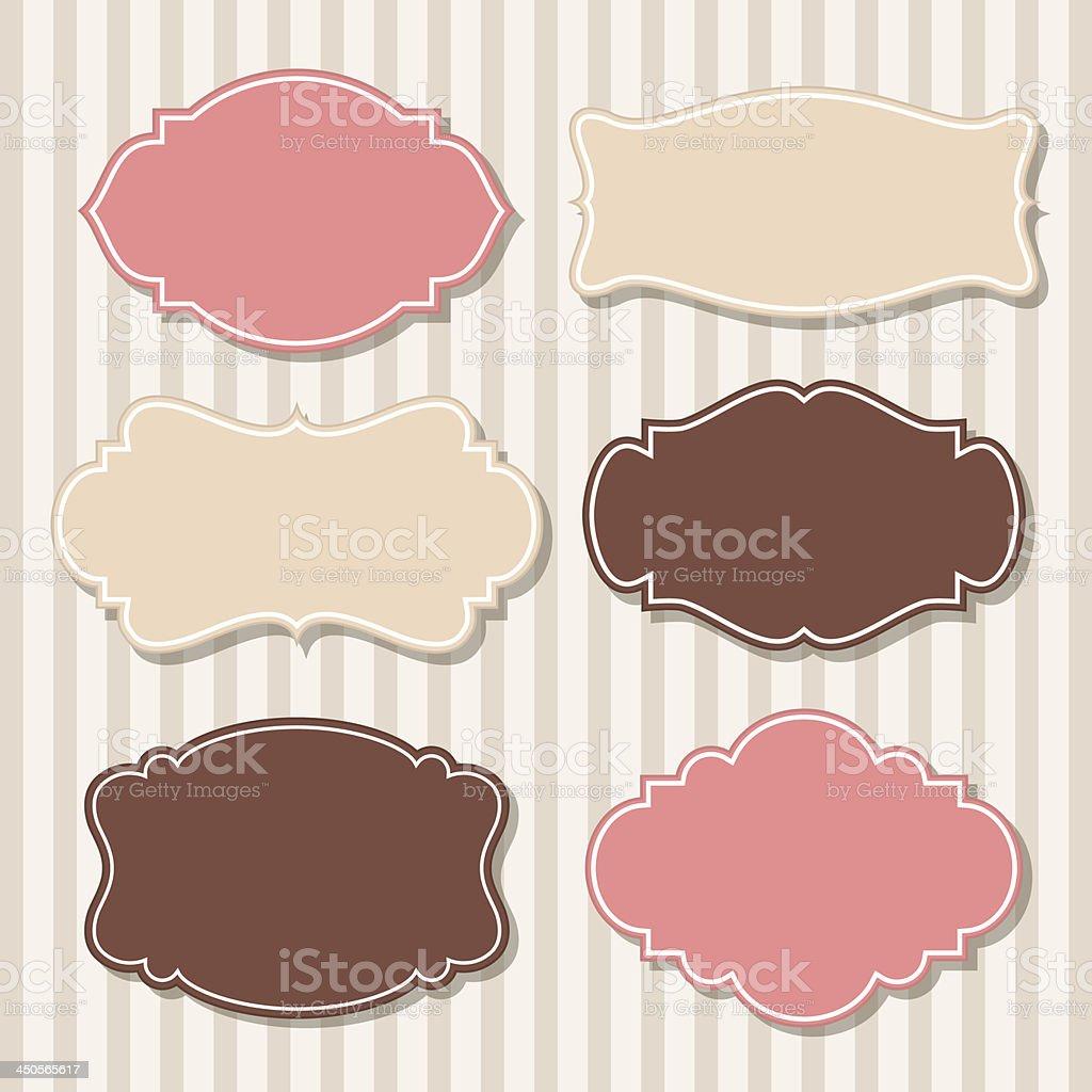 Set of vintage labels vector art illustration