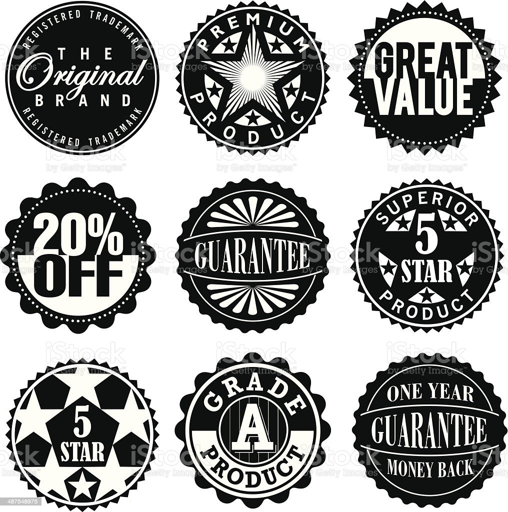 Set of Vintage Retro Labels royalty-free stock vector art