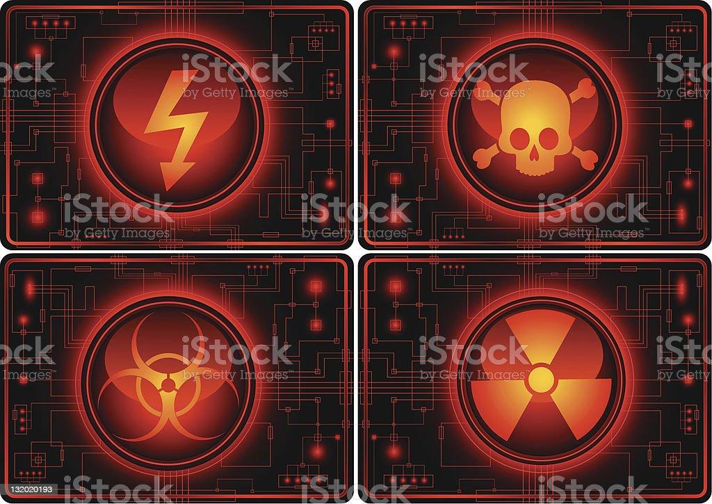 Set of  warning symbols royalty-free stock vector art