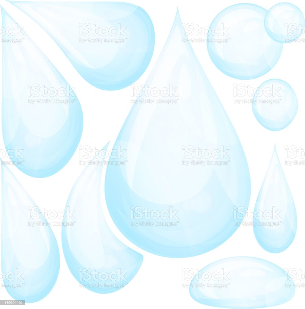 Set of water drops. Eps10. vector art illustration