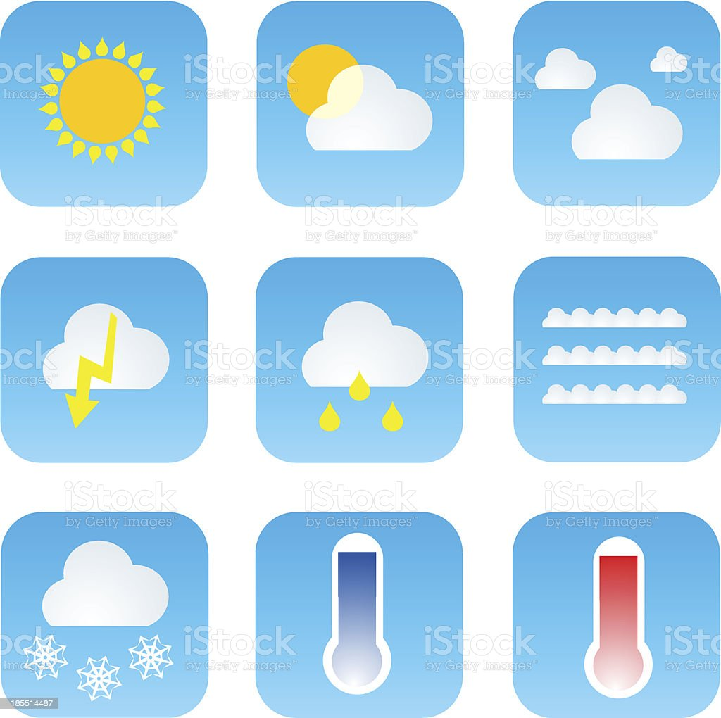 Set of Weather icons royalty-free stock vector art