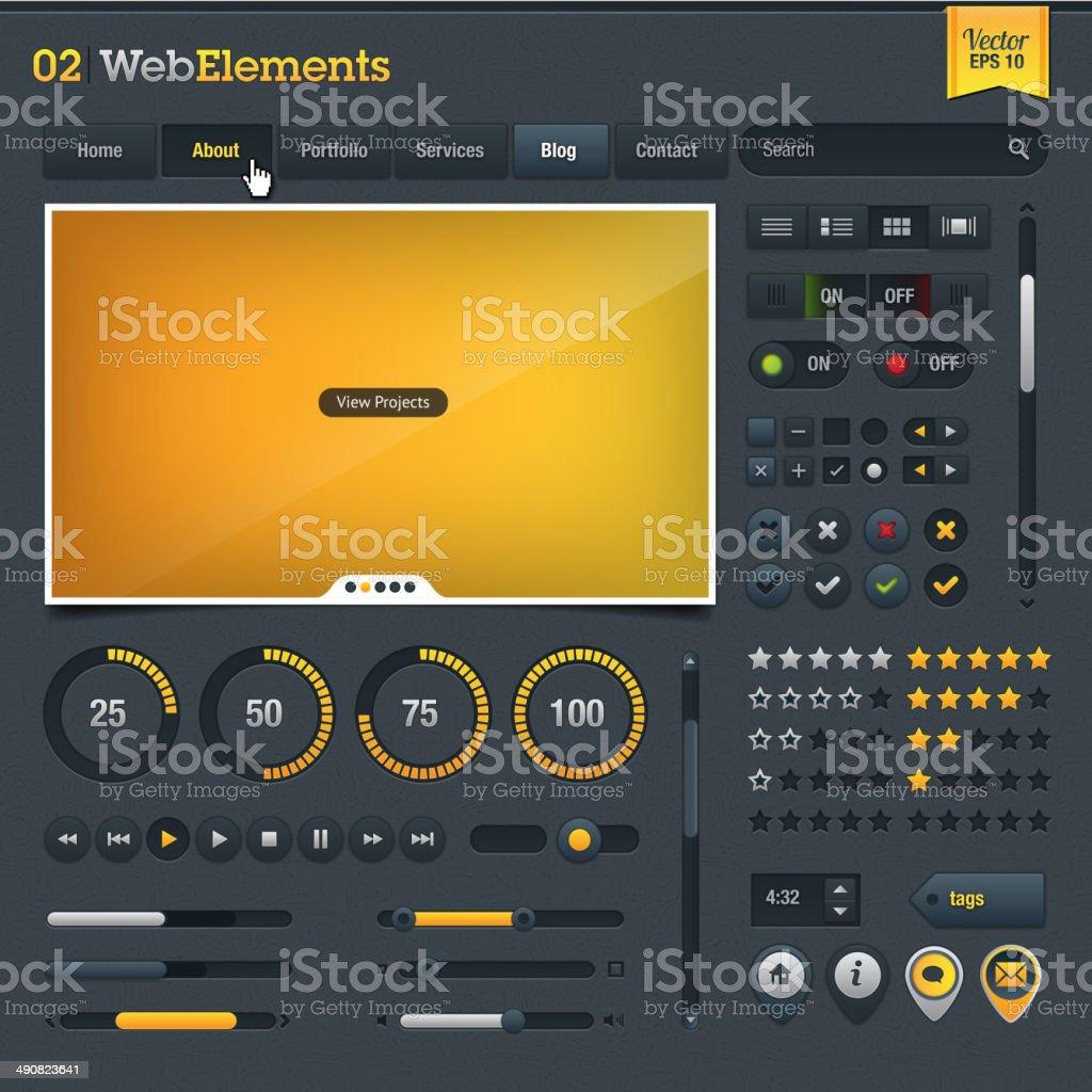 Conjunto de elementos de diseño web illustracion libre de derechos libre de derechos