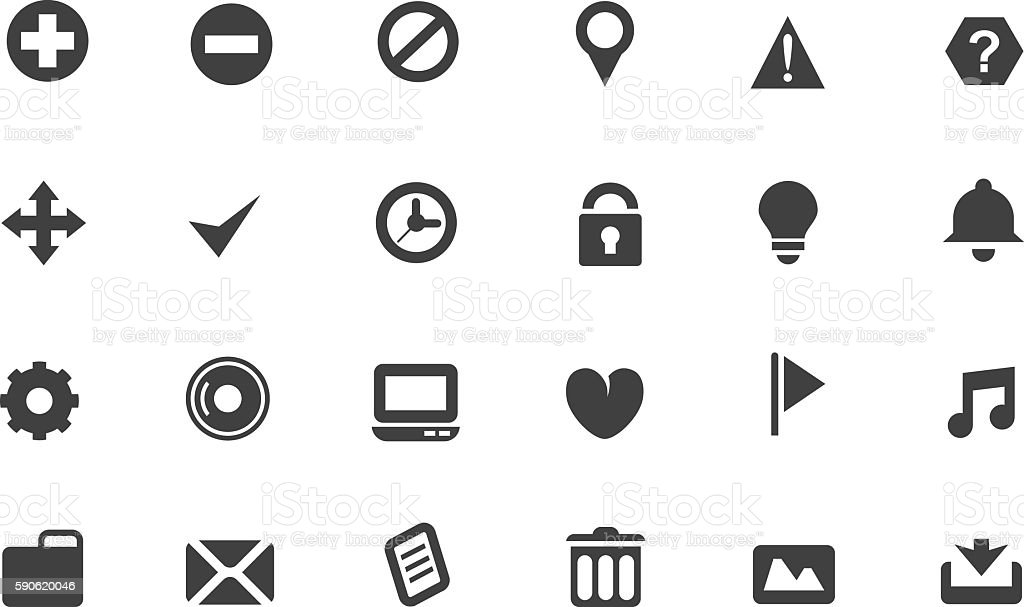 Set of web icons vector art illustration