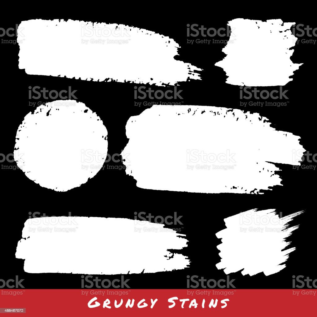 Set of White Hand Drawn Grunge backgrounds. vector art illustration