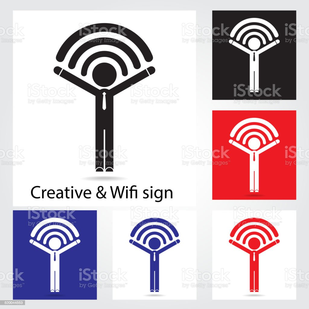 set of wifi icons for business or commercial use stock vector art