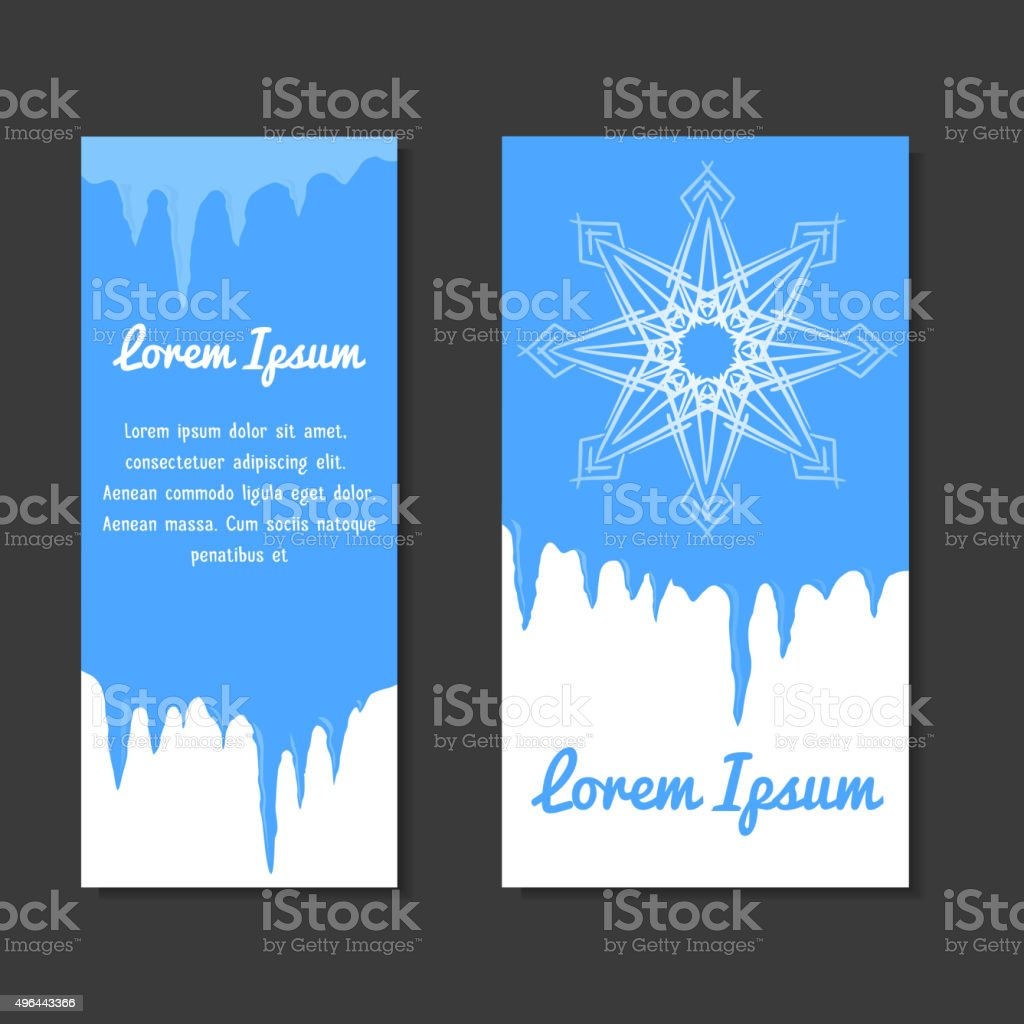set of winter template place for text for flyers stock vector set of winter template place for text for flyers royalty stock vector art