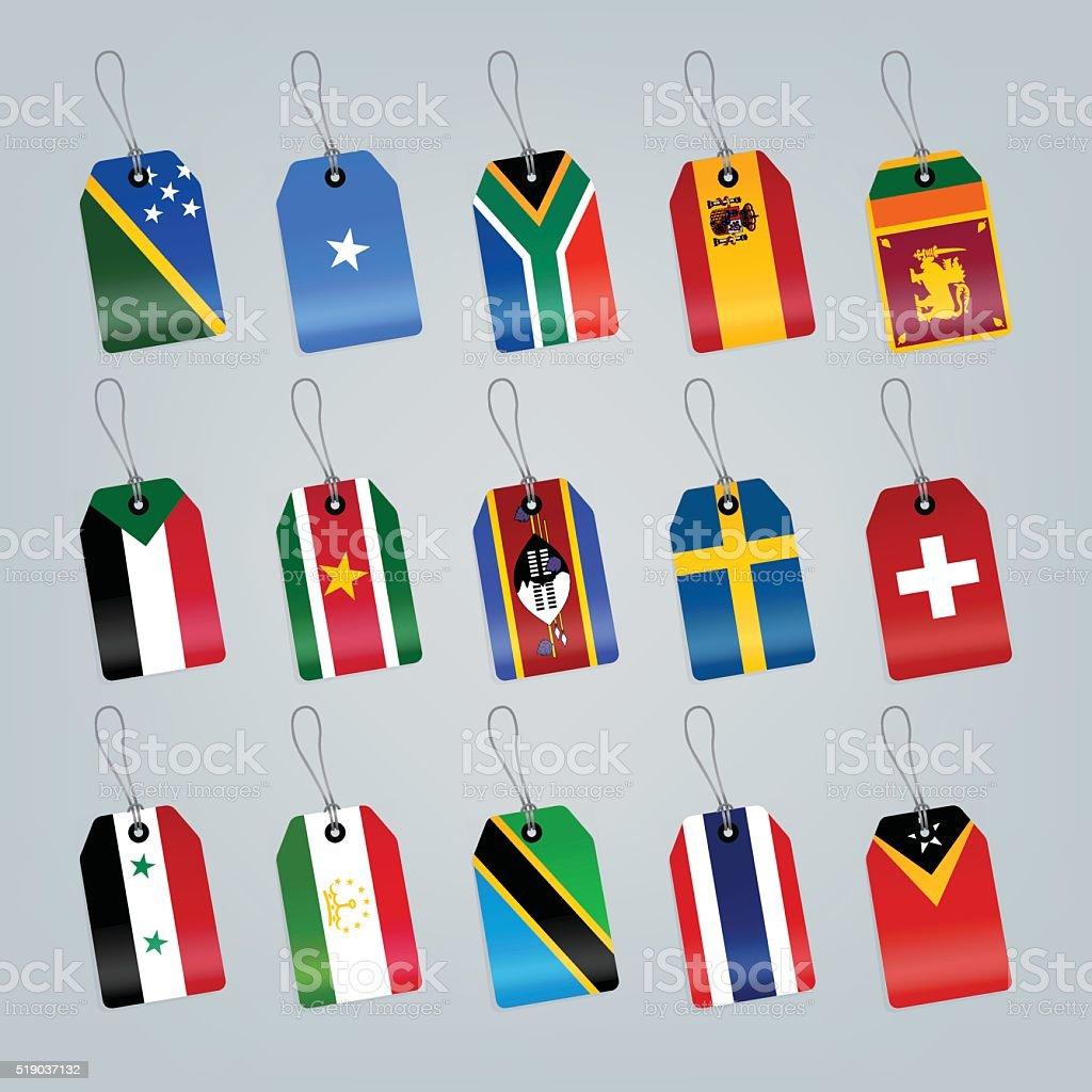 Set of world flags. vector art illustration