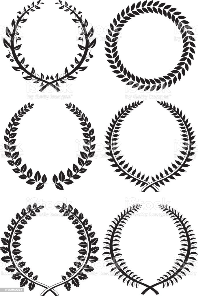 Set of wreaths royalty-free stock vector art