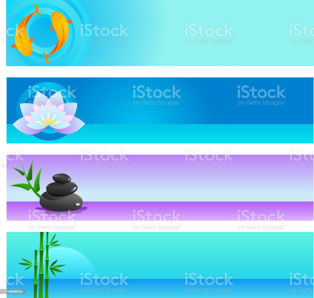 set of Zen and yoga banners royalty-free stock vector art