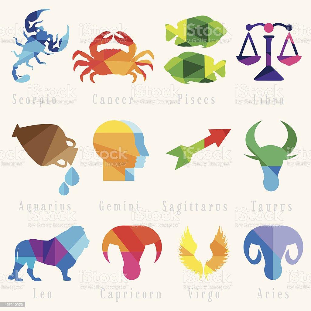 Set Of Zodiac Horoscope Signs stock - 331.9KB