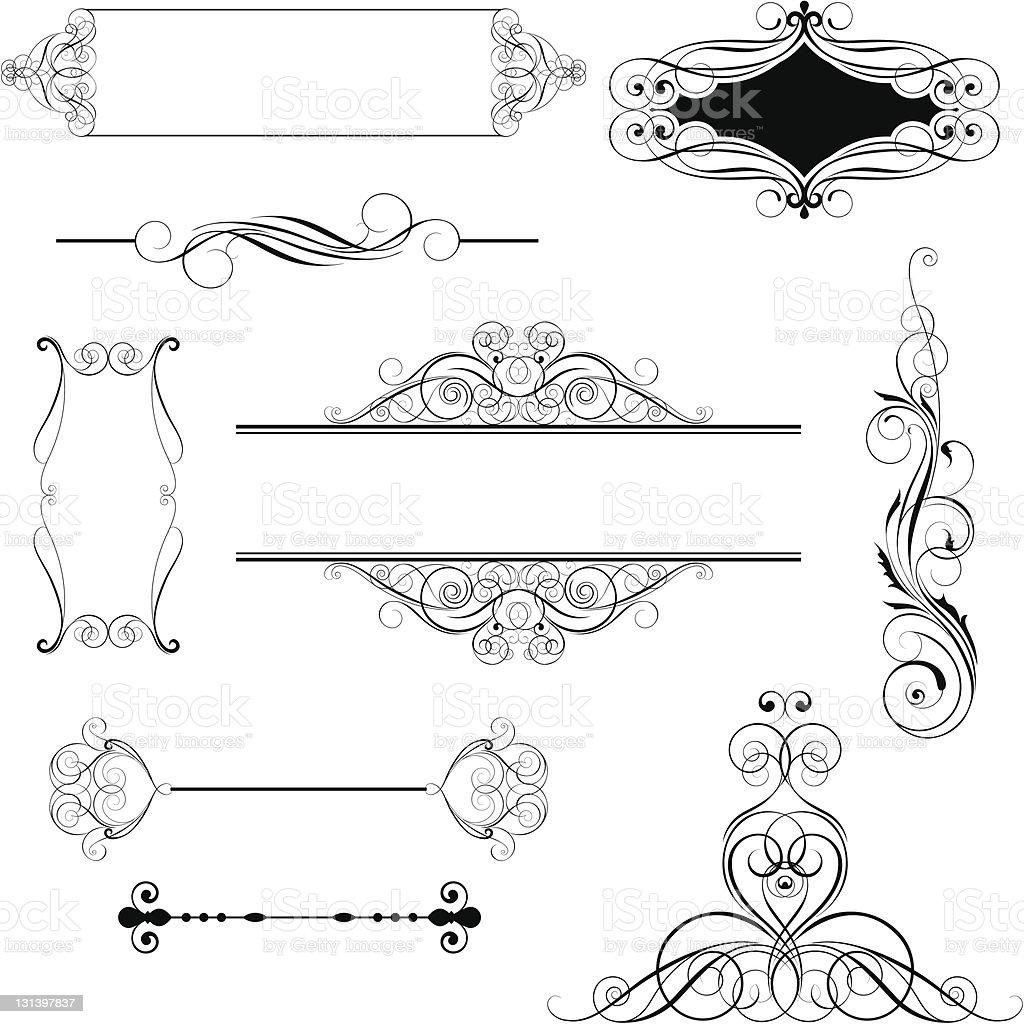 Set ornamental design royalty-free stock vector art