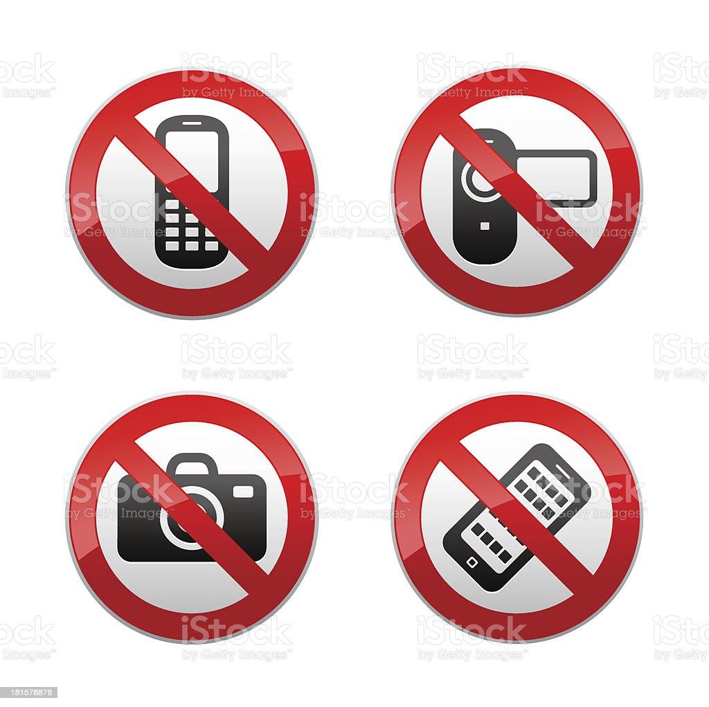 Набор признаков-gadget запрещено векторная иллюстрация