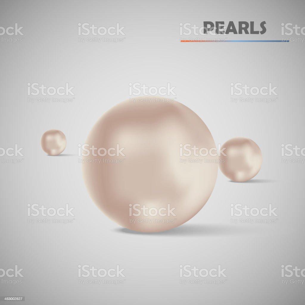 Set realistic vector pearls royalty-free stock vector art