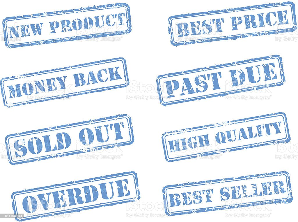 Set rubber stamps royalty-free stock vector art