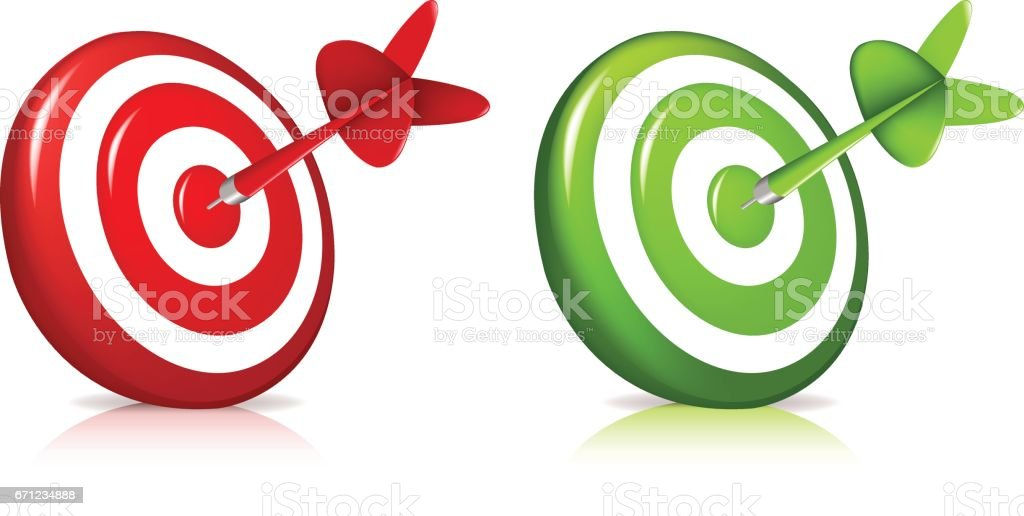 Set Target vector art illustration