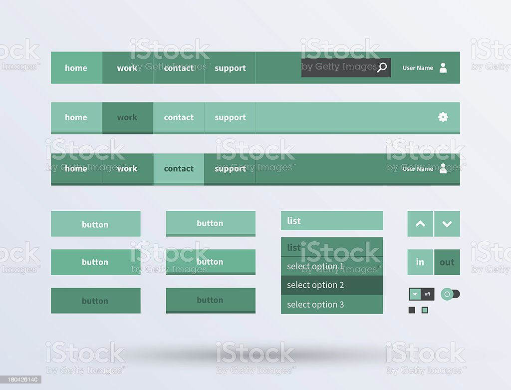 UI set the flat design trend. royalty-free stock vector art