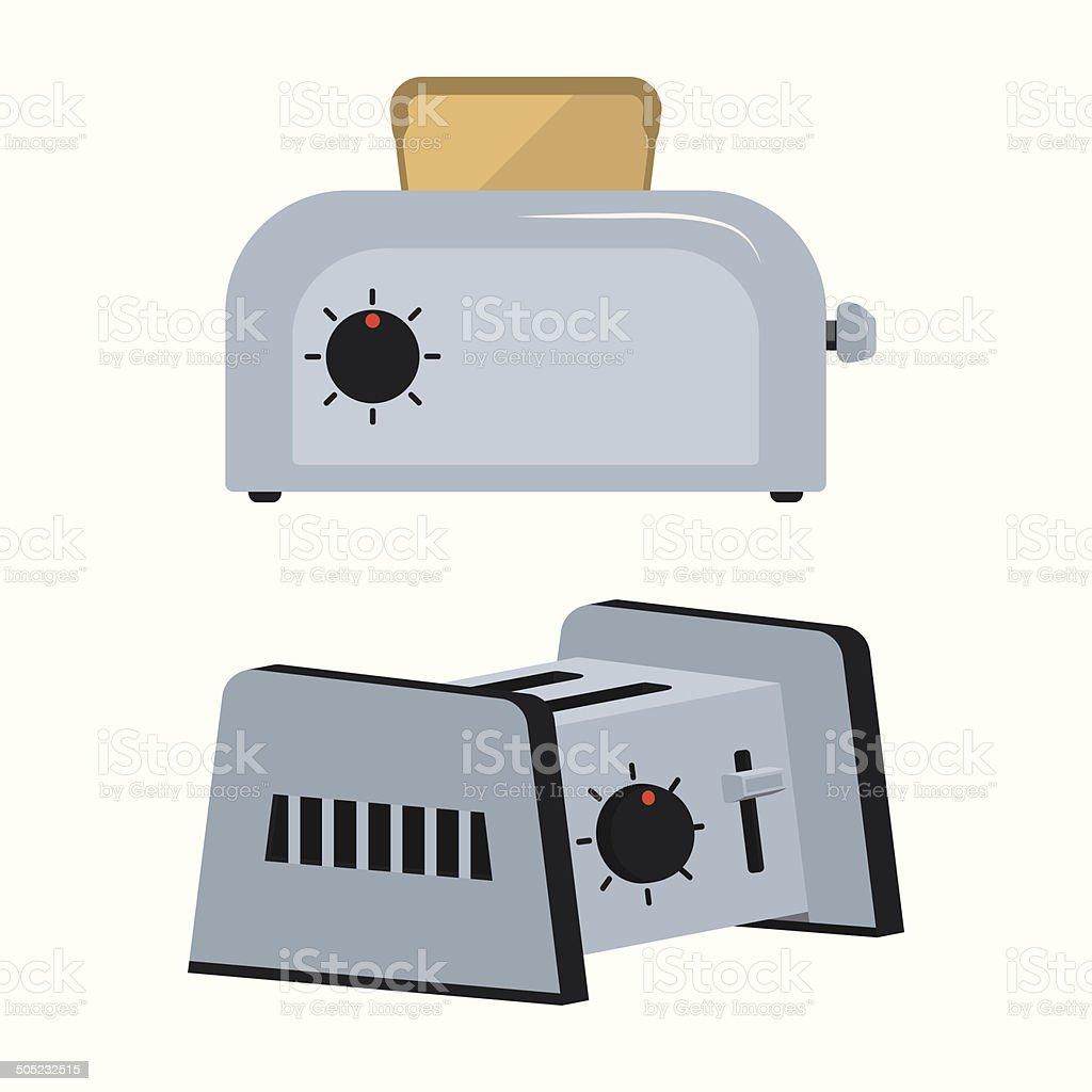 Set toaster vector art illustration