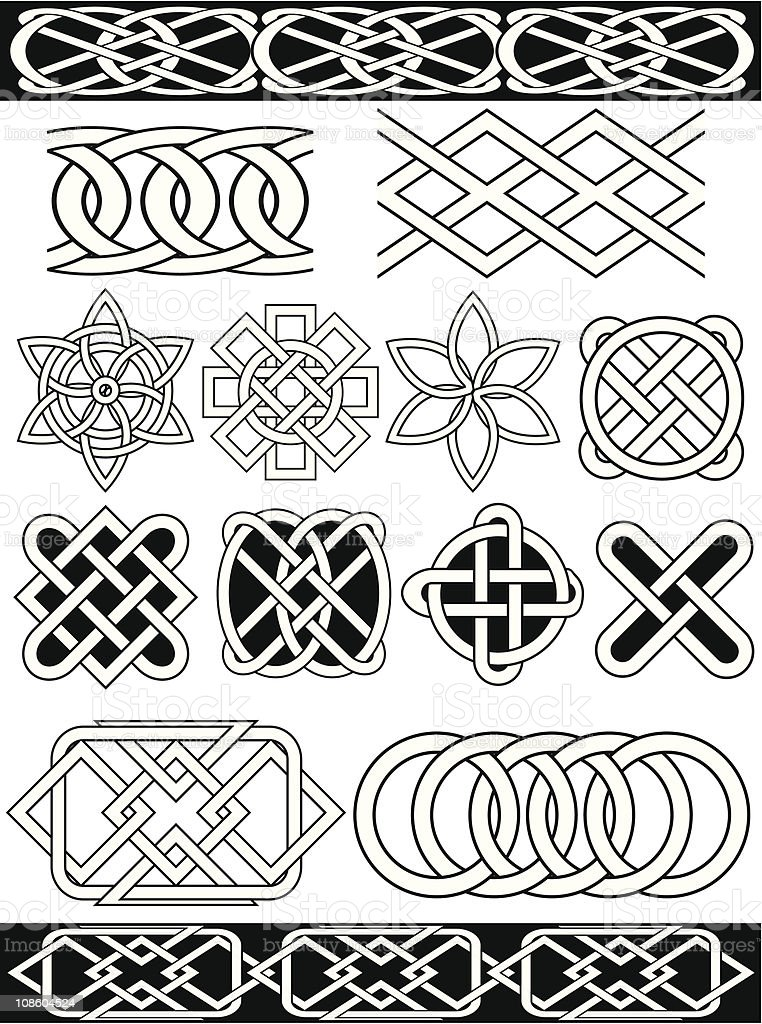 Set - vector celtic patterns royalty-free stock vector art