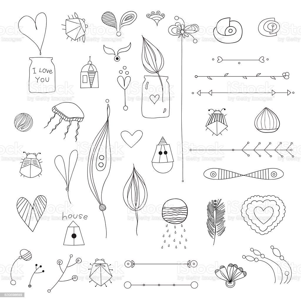set vector art illustration