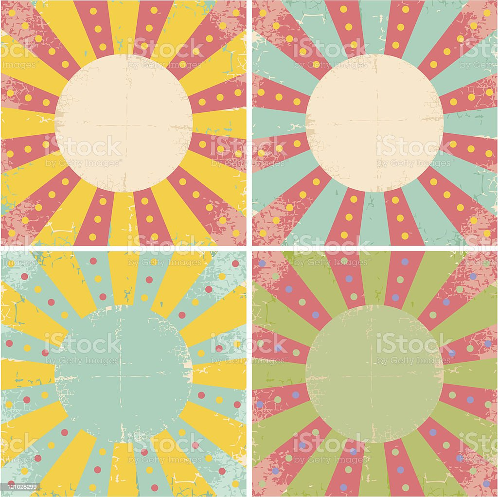 Set vector old papers royalty-free stock vector art