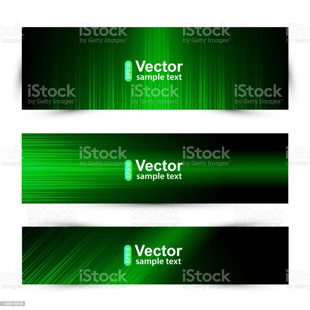 Set Web banners vector art illustration