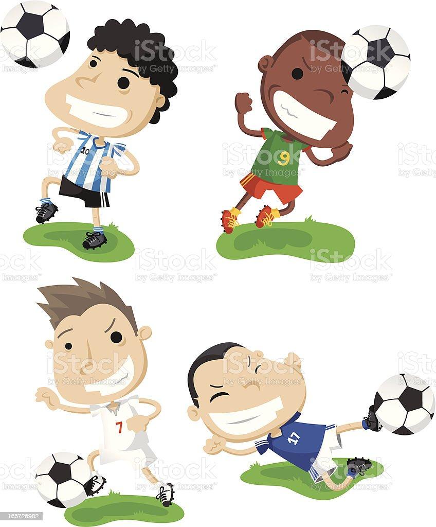 Set World Cup vector art illustration