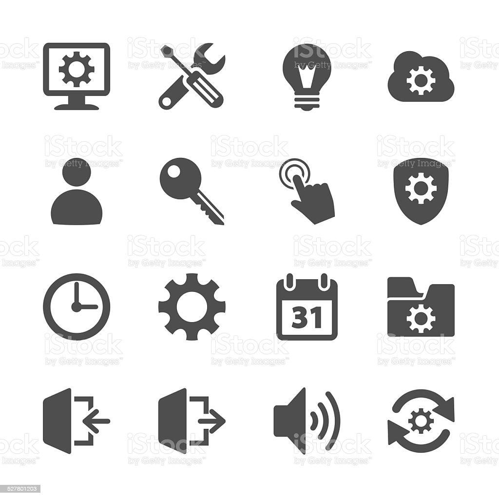 setting menu icon set, vector eps10 vector art illustration