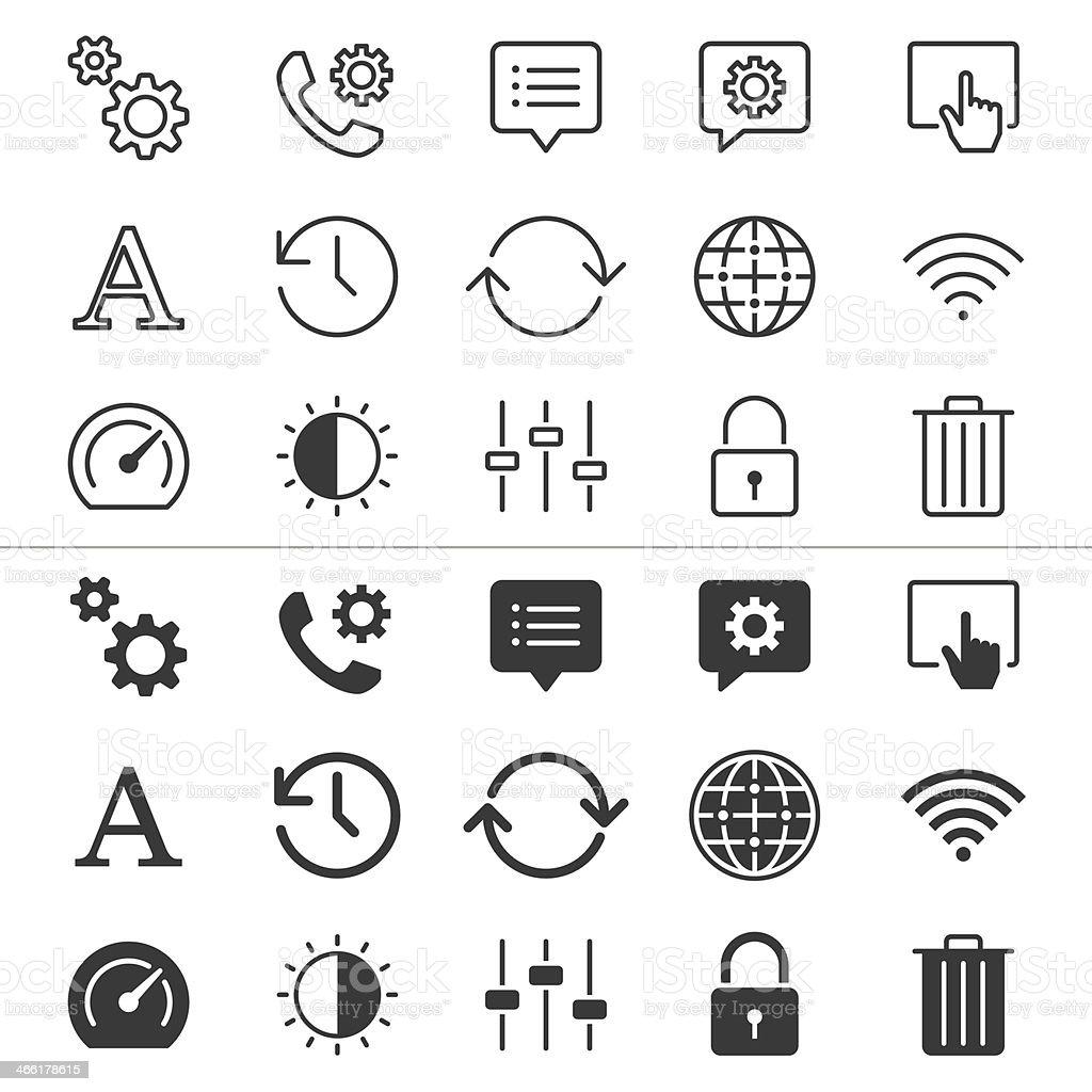 Setting thin icons royalty-free stock vector art