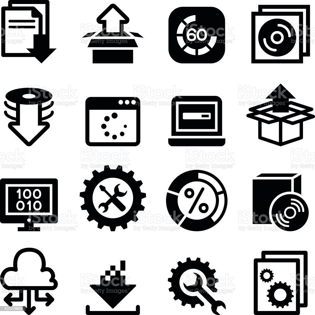 Setup , configuration, maintenance & Installation icon vector art illustration