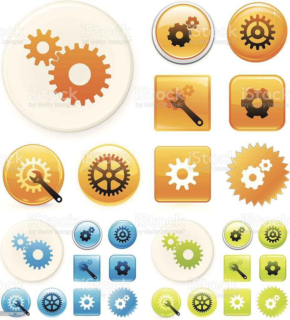 Setup icons royalty-free stock vector art