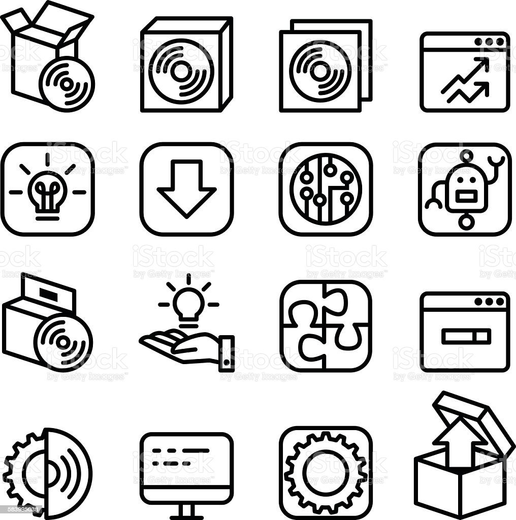 Setup , setting, configuration, maintenance & Installation icon vector art illustration